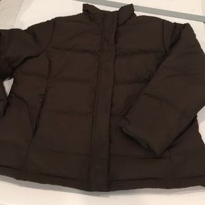 Brown LL Bean Quilted Puffer. Large